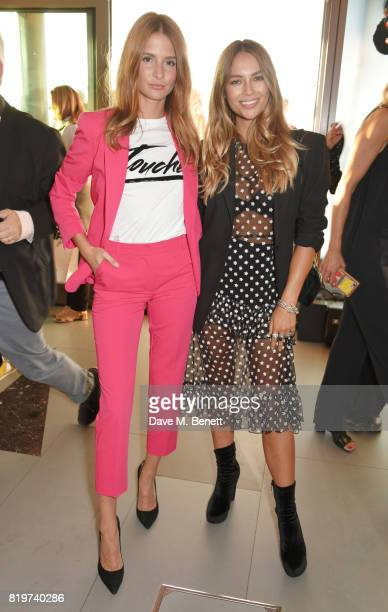 Millie Mackintosh and Emma Louise Connolly attend the Emporio Armani You Fragrance launch at Sea Containers on July 20 2017 in London England