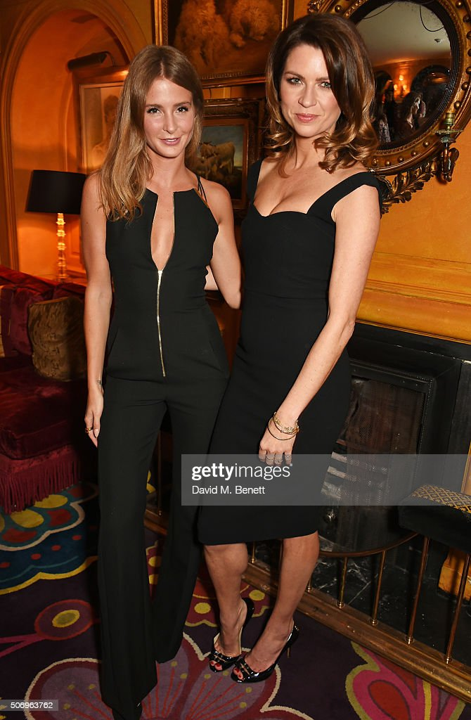 Millie Mackintosh (L) and Gabriela Peacock attend the launch of GP Nutrition Supplements, a collection of five premium nutritional programmes perfect for modern living, at Annabels on January 26, 2016 in London, England.