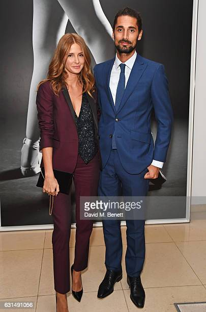 Millie Mackintosh and Hugo Taylor attend the opening night reception of the English National Ballet's production of 'Giselle' hosted by St Martins...