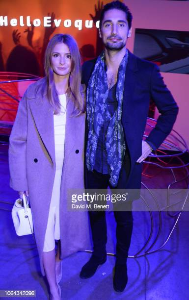 Millie Mackintosh and Hugo Taylor attend the World Premiere of the new Range Rover Evoque at The Old Truman Brewery on November 22 2018 in London...