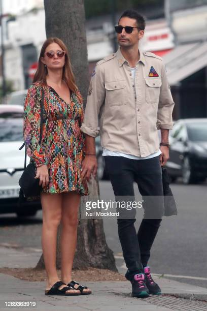 Millie Mackintosh and Hugo Taylor seen in Westbourne Grove Notting Hill on August 28 2020 in London England