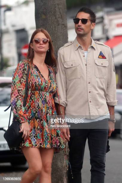Millie Mackintosh and Hugo Taylor seen in Westbourne Grove, Notting Hill on August 28, 2020 in London, England.