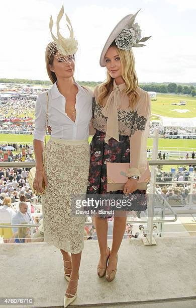 Millie Mackintosh and Laura Whitmore attend Derby Day during the Investec Derby Festival at Epsom Racecourse on June 6 2015 in Epsom England
