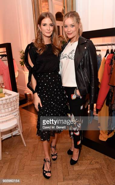 Millie Mackintosh and Laura Whitmore attend the House of Fraser SS18 launch dinner at One Belgravia on March 21 2018 in London England