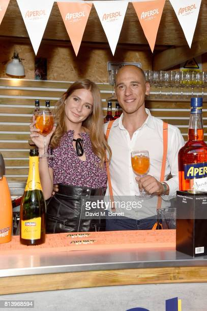 Millie Mackintosh and Loris Contro attends the Aperol Spritz Social on July 13 2017 in London England