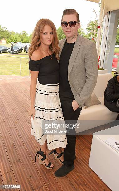 Millie Mackintosh and Professor Green attend day two of the Audi Polo Challenge at Coworth Park on May 31 2015 in London England