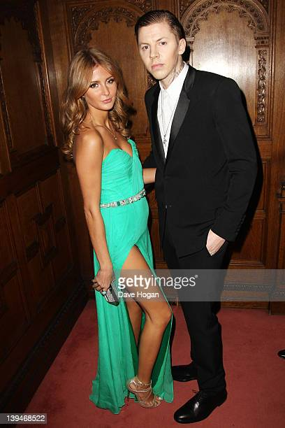 Millie Mackintosh and Professor Green attend The BRIT Awards Warner Music aftershow party at Two Temple Place on February 21 2012 in London England