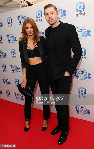 Millie Mackintosh and Professor Green attend the Global Make Some Noise event at Supernova on November 20 2014 in London England