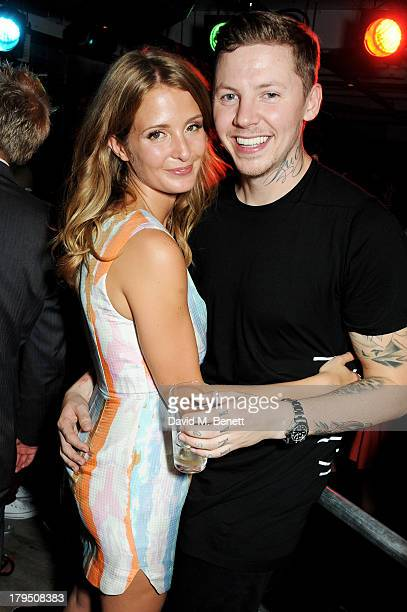 Millie Mackintosh and Professor Green attend the launch of new Leicester Square nightclub 'INK' from Stephen Manderson aka Professor Green and Gerry...