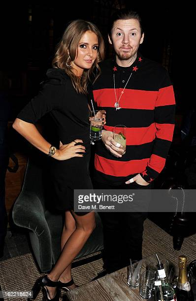 Millie Mackintosh and Professor Green attend the Universal Music Brits Party hosted by Bacardi at the Soho House popup on February 20 2013 in London...