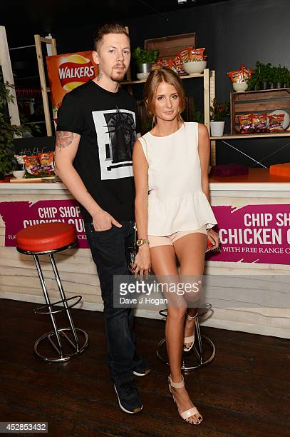 Millie Mackintosh and Professor Green attend the Walkers 'Do Us A Flavour' finalists launch at Centrepoint on July 28 2014 in London England