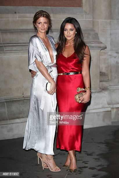Millie Mackintosh and Roxie Nafousi attend the Samsung BlueHouse private view of the Alexander McQueen Savage Beauty exhibition at Victoria Albert...