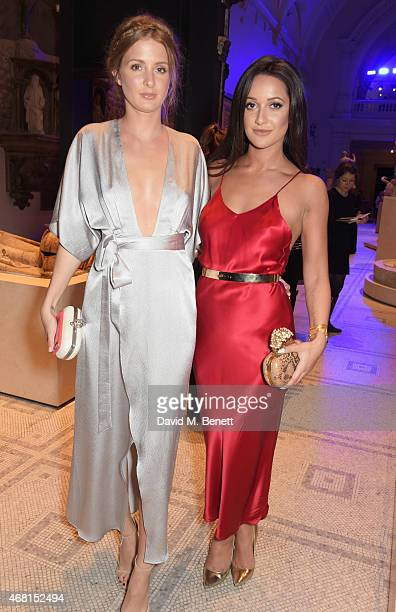 Millie Mackintosh and Roxie Nafousi attend the Samsung BlueHouse private view of the 'Alexander McQueen Savage Beauty' exhibition at the Victoria...