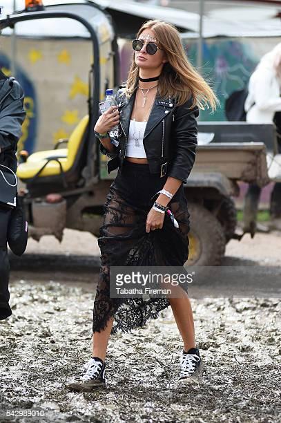 Millie Mackintosh at Glastonbury Festival 2016 at Glastonbury Festival Site on June 25 2016 in Glastonbury England