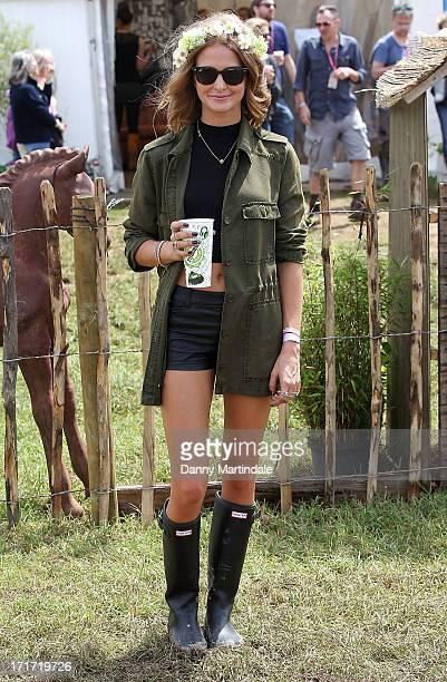 Millie Mackintosh attends day 2 of the 2013 Glastonbury Festival at Worthy Farm on June 28 2013 in Glastonbury England