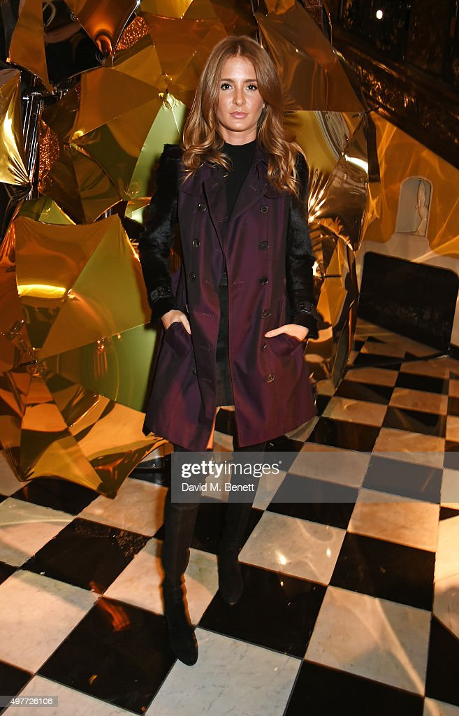 Millie Mackintosh attends the Claridge's Christmas Tree Party 2015, designed by Christopher Bailey for Burberry, at Claridge's Hotel on November 18, 2015 in London, England.