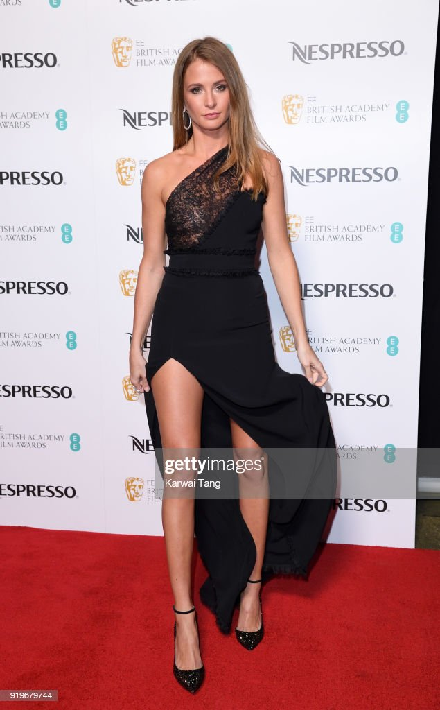 Millie Mackintosh attends the EE British Academy Film Awards (BAFTA) Nominees Party at Kensington Palace on February 17, 2018 in London, England.