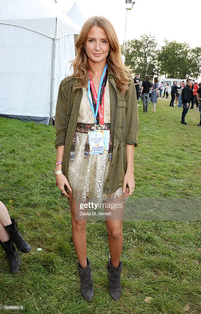 Millie Mackintosh attends the Mahiki Rum Bar for the launch of the Mahiki Rum Family backstage during day 1 of the V Festival 2014 at Hylands Park on August 16, 2014 in Chelmsford, England.