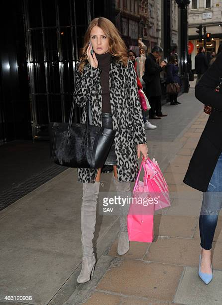Millie Mackintosh is sighted shopping at Victoria's Secret on Bond Street on February 10 2015 in London England