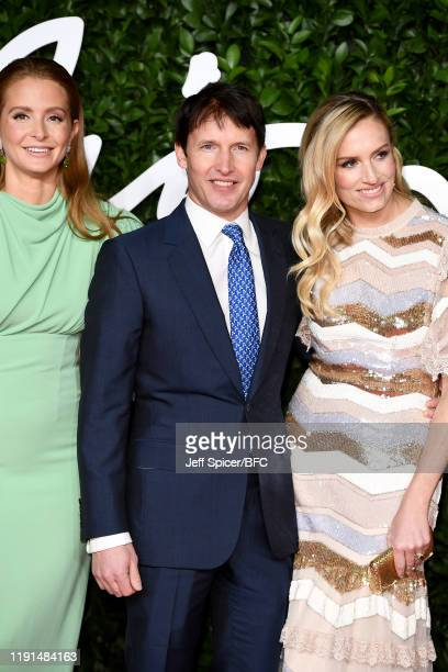 Millie Mackintosh James Blunt and Lady Sofia Wellesley arrive at The Fashion Awards 2019 held at Royal Albert Hall on December 02 2019 in London...