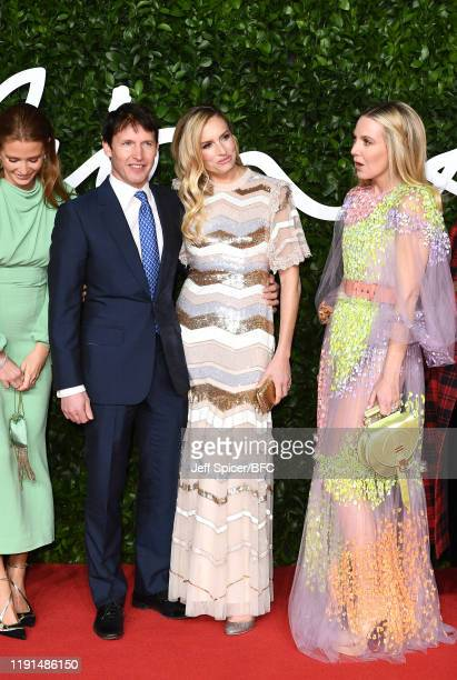 Millie Mackintosh James Blunt Lady Sofia Wellesley and Alice NaylorLeyland arrive at The Fashion Awards 2019 held at Royal Albert Hall on December 02...