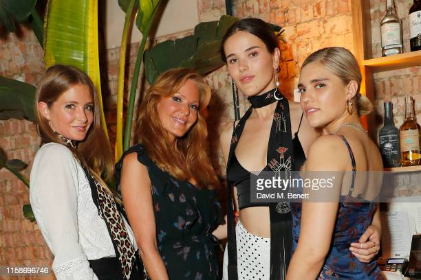 Millie Mackintosh Paige AdamsGeller Frankie Herbert and Tiger Lilly Taylor attend the PAIGE fashion dinner hosted by founder creative director Paige...