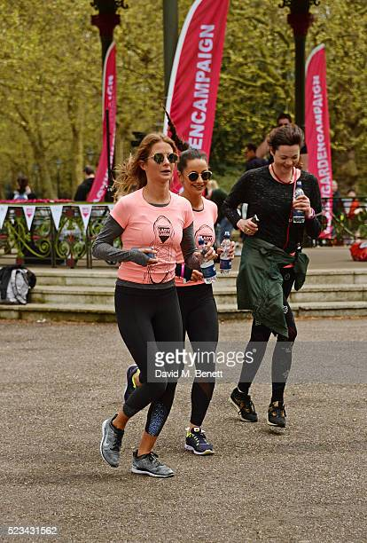 Millie Mackintosh Roxie Nafousi and Jasmine Guinness attend the Lady Garden 5K Fun Run in aid of Silent No More Gynaecological Cancer Fund in...