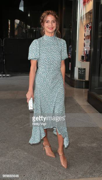 Millie Mackintosh seen leaving Kurt Geiger shopping party in Covent Garden on May 17 2018 in London England