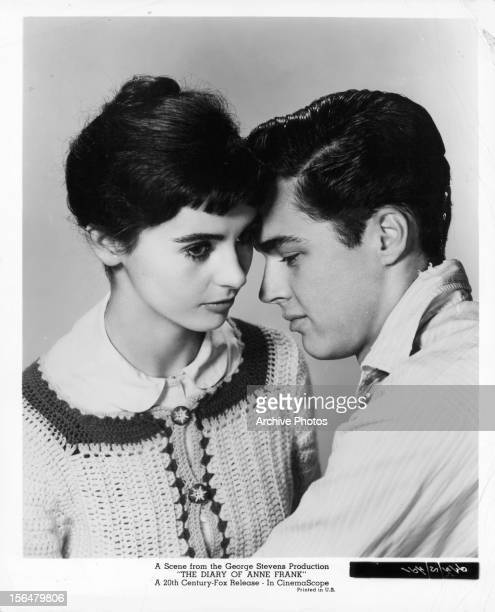 Millie Perkins and Richard Beymer in publicity portrait for the film 'The Diary Of Anne Frank' 1959