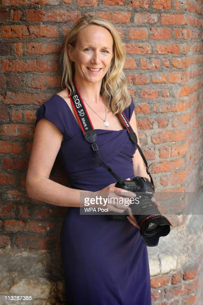 Millie Pilkington, the private photographer during the wedding of Their Royal Highnesses Prince William Duke of Cambridge and Catherine Duchess of...