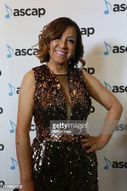 Millie Quezada arrives at 2019 ASCAP Latin Music Awards at El San Juan Hotel on March 5 2019 in San Juan Puerto Rico