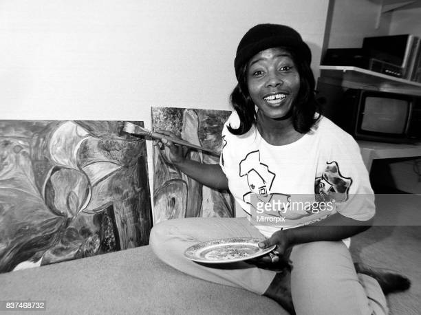 Millie Small Singer painting canvases Art July 1987 1980s