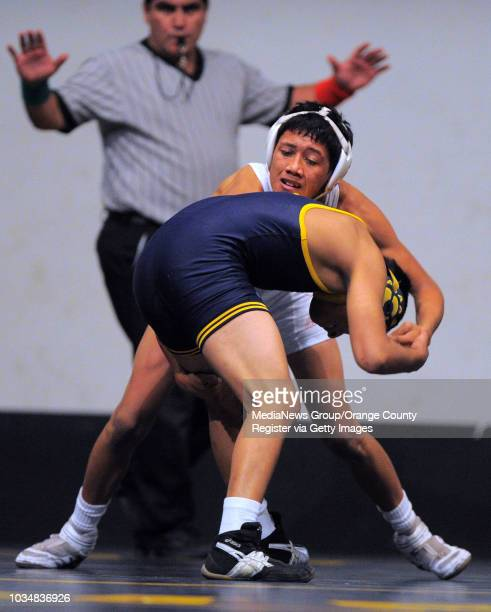 BEACH Millikan vs Downey wrestling Millikan's Angel Castellanos beat Downey's Daniel Martinez in the 120 pound match on points