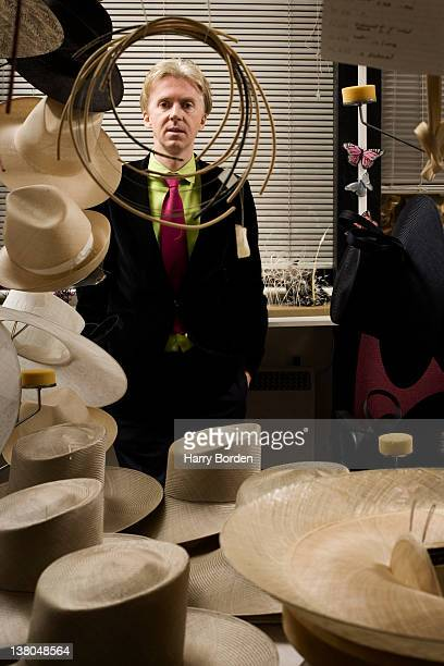 Milliner Philip Treacy is photographed for Stern magazine on December 19 2006 in London England