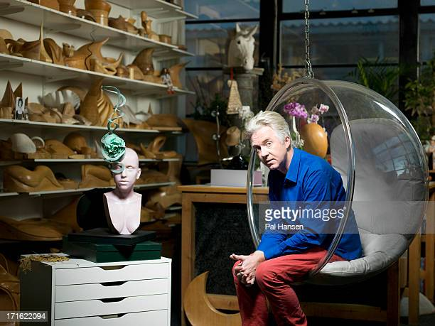 Milliner Philip Treacy is photographed the Times on December 7, 2012 in London, England.