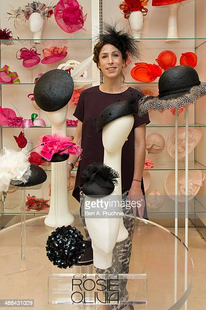 Milliner Rosie Olivia poses for a photograph ahead of Royal Ascot which takes place from June 17th21st leading London department store Fenwick of...
