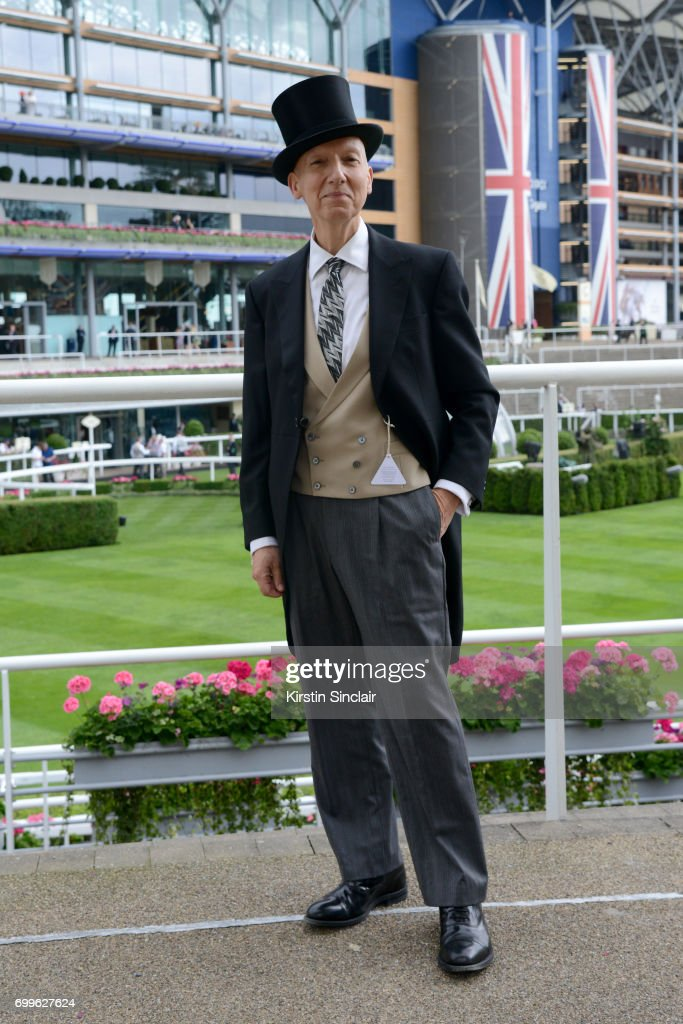 Milliner Stephen Jones attends day 3 of Royal Ascot at Ascot Racecourse on June 22, 2017 in Ascot, England.