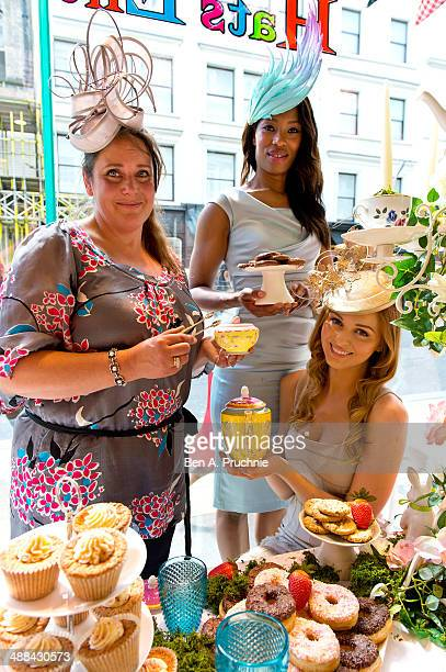 Milliner Vivien Sheriff poses for photographs ahead of Royal Ascot which takes place from June 17th-21st, leading London department store Fenwick of...