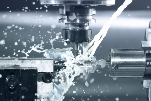 CNC milling at work 154368811