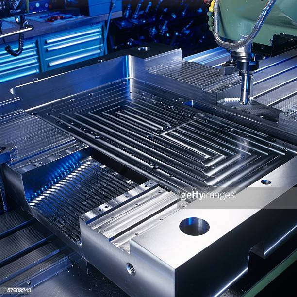 Milling machine close up