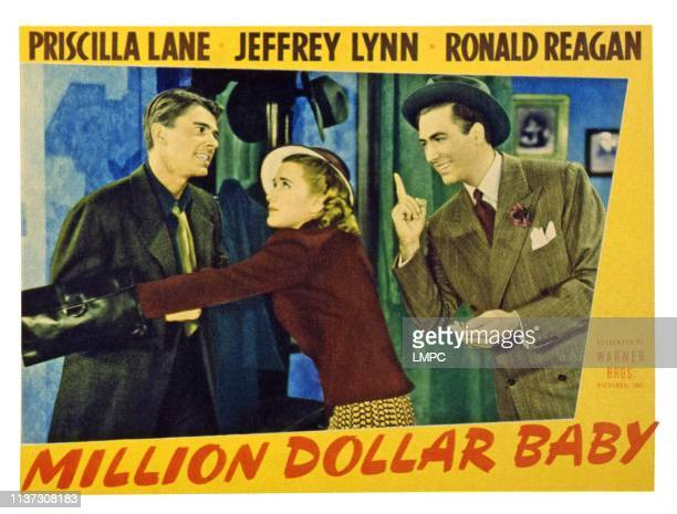 Million Dollar Baby US lobbycard from left Ronald Reagan Priscilla Lane Jeffrey Lynn 1941