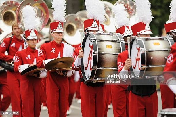 million dollar band drum section - marching band stock pictures, royalty-free photos & images
