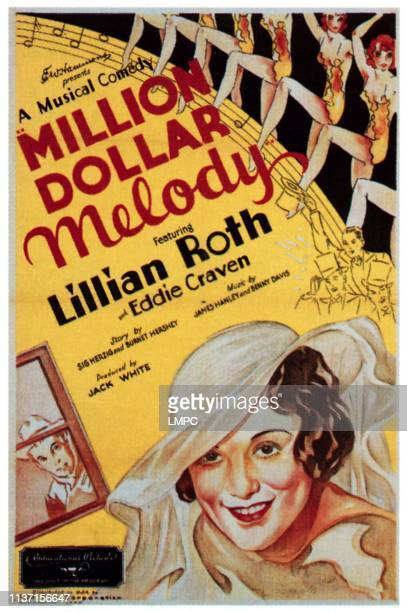 Million Dollar Melody poster Lillian Roth 1933