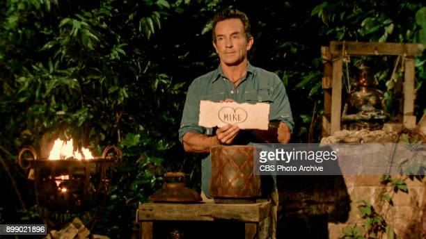 'Million Dollar Night' Jeff Probst at Tribal Council on the finale of SURVIVOR 35 themed Heroes vs Healers vs Hustlers airing Wednesday December 20...