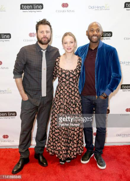 A Million Little Things actors James Roday Allison Miller and Romany Malco arrive at the Teen Line's Food for Thought Brunch at UCLA on May 5 2019 in...
