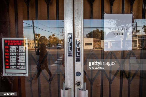 A framing art gallery is closed in Venice Beach California' during the COVID19 novel coronavirus on April 01 2020 Another 665 million US workers...