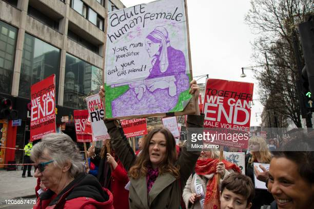 Million Women Rise march on 7th March 2020 in London, United Kingdom. Million Women Rise is a women-only march and rally against male violence...