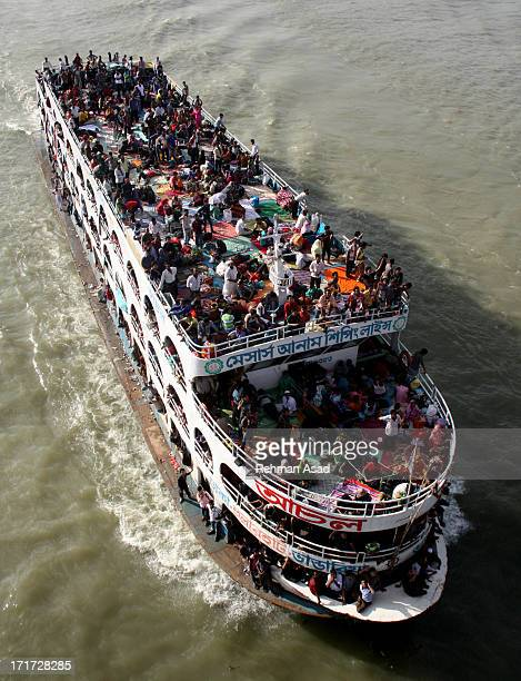 Millions of Dhaka residents are traveling risky by ferry from the Bangladesh capital to celebrate Eid-al-Fitr.