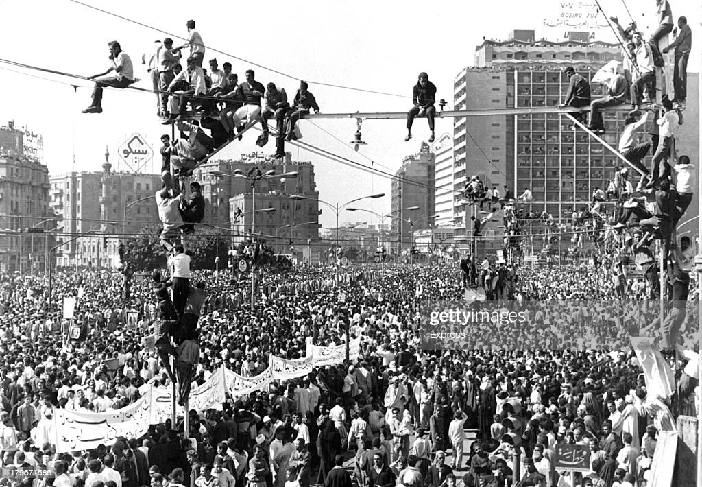 PRESIDENT NASSER'S FUNERAL PROCESSION : News Photo