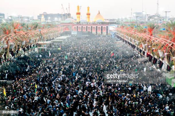 millions of pilgrims in karbala shrine, iraq - najaf stock pictures, royalty-free photos & images